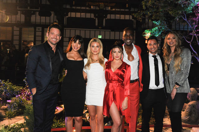 Hosts of This is LA, Robert Parks-Valletta, Estrella Nouri, Paige Lorentzen, Lyssa Roberts, Derrial Christon, Adam Kruger and Antje Utgaard. Photo Credit: Getty Images for Circle 8 Productions