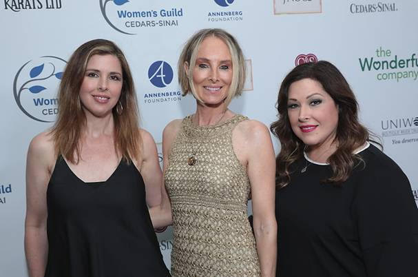 Wendy Wilson, Chynna Phillips and Carnie Wilson of Wilson Phillips arrive at the annual Women's Guild Cedars-Sinai gala at the Beverly Wilshire Hotel in Beverly Hills, CA, on May 2, 2019  (Photo Credit: Alex J. Berliner/ AB Images)