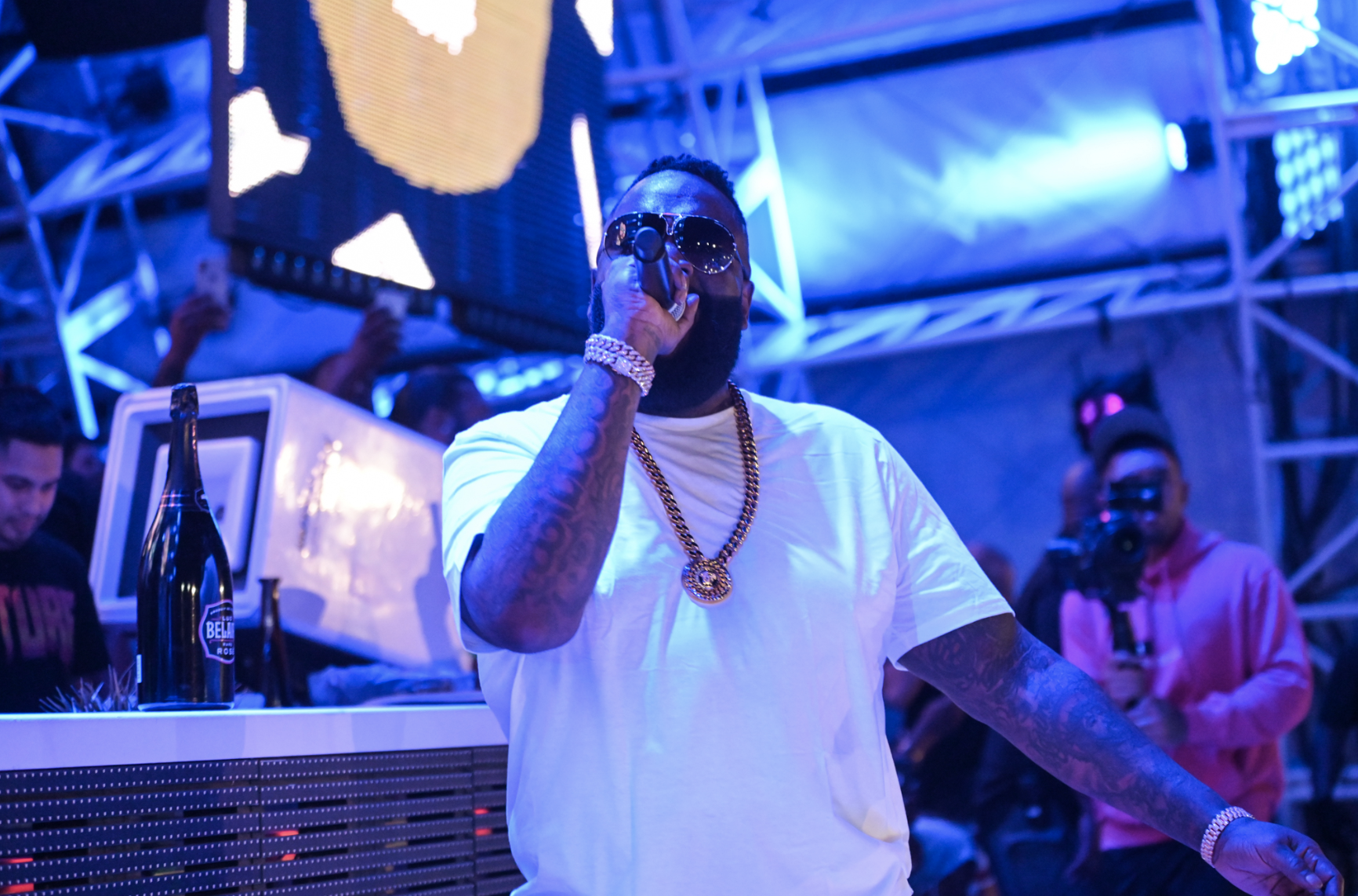 Rick Ross  celebrates his upcoming album release at   DAYLIGHT Beach Club   's ECLIPSE  pool party at Mandalay Bay Resort and Casino on Thursday, August 1. Images Courtesy of Daylight.