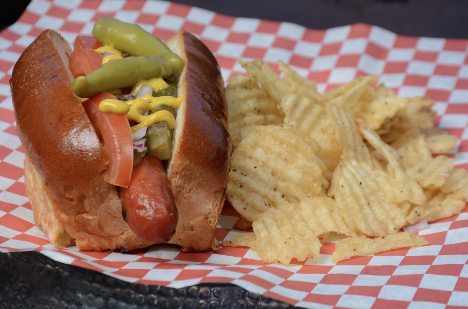 This delicious hotdog is far from basic!  Photo Credit:  acuna-hansen