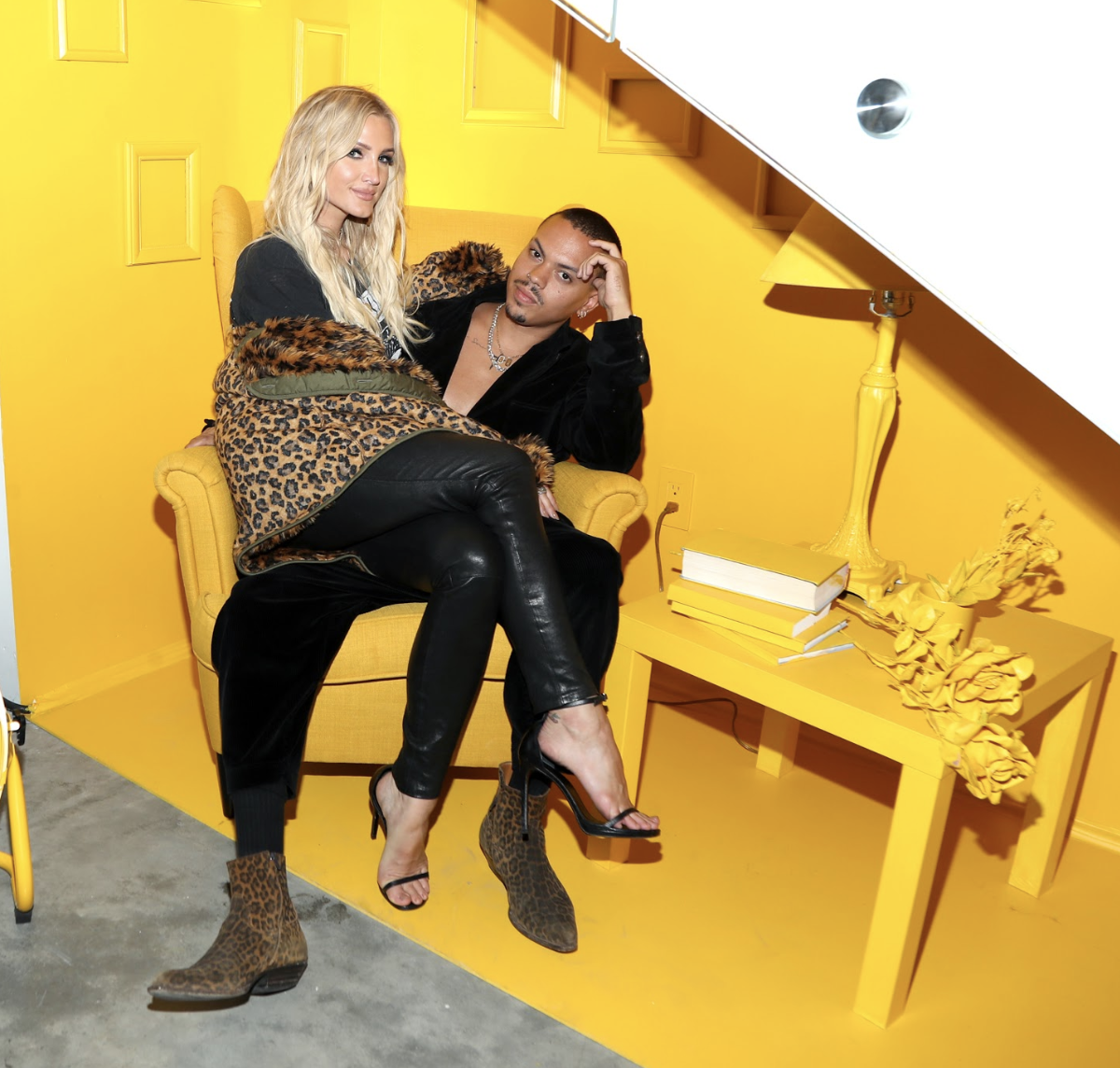 Ashlee Simpson-Ross and Evan Ross attend the AIRGRAFT 'The Art Of Clean Vapor' launch with Talent Resources on September 6, 2019 in Los Angeles, California. Photo Credit: Jerritt Clark | Getty Images