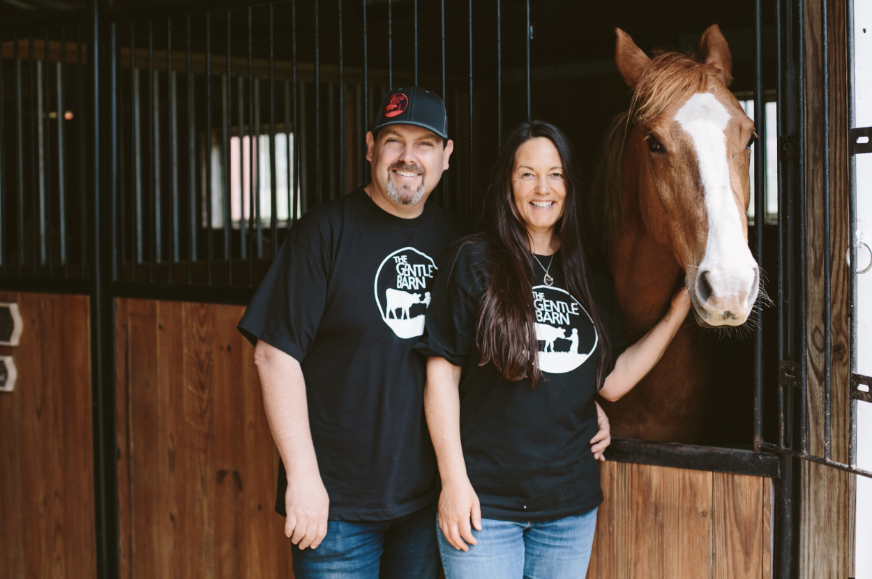 The Gentle Barn Founders Ellie Laks and Jay Weiner! Photo Courtesy of PR-Dept