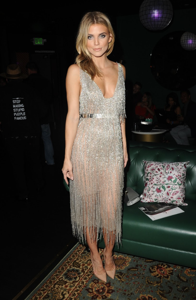 AnnaLynne McCord was spotted at MAXIM Magazine's Sept./ Oct. Issue Release Party at sbe hotspot Nightingale, Hosted by Cover model Vita Sidorkina, while wearing a fringe number by Mark Zunino. Photo Credit:  startraksphoto.com/  Michael Simon