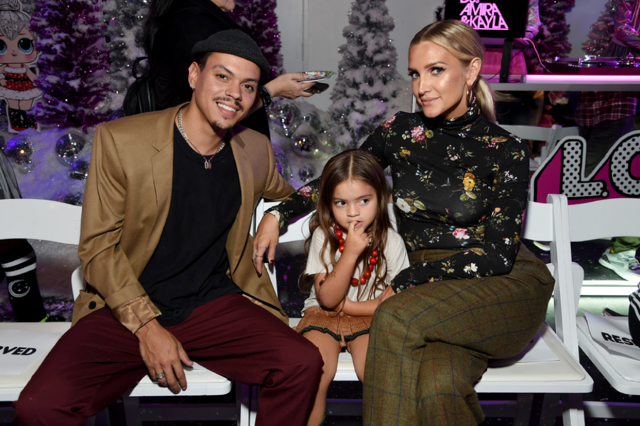 Evan Ross was all smiles having a family night out with wife Ashlee Simpson-Ross and their beautiful girl Jagger at the  L.O.L. Surprise! Winter Disco Launch Party  last night in LA.  Photo Credit: Michael Kovac / Getty Images