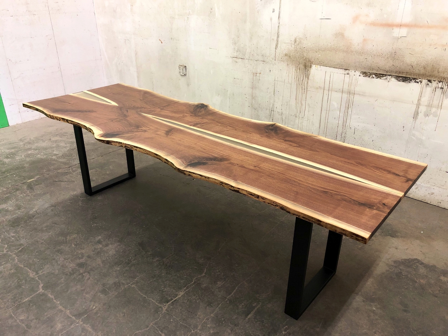 SOLD - Bookmatched Black Walnut, Live Edge Dining Table ...