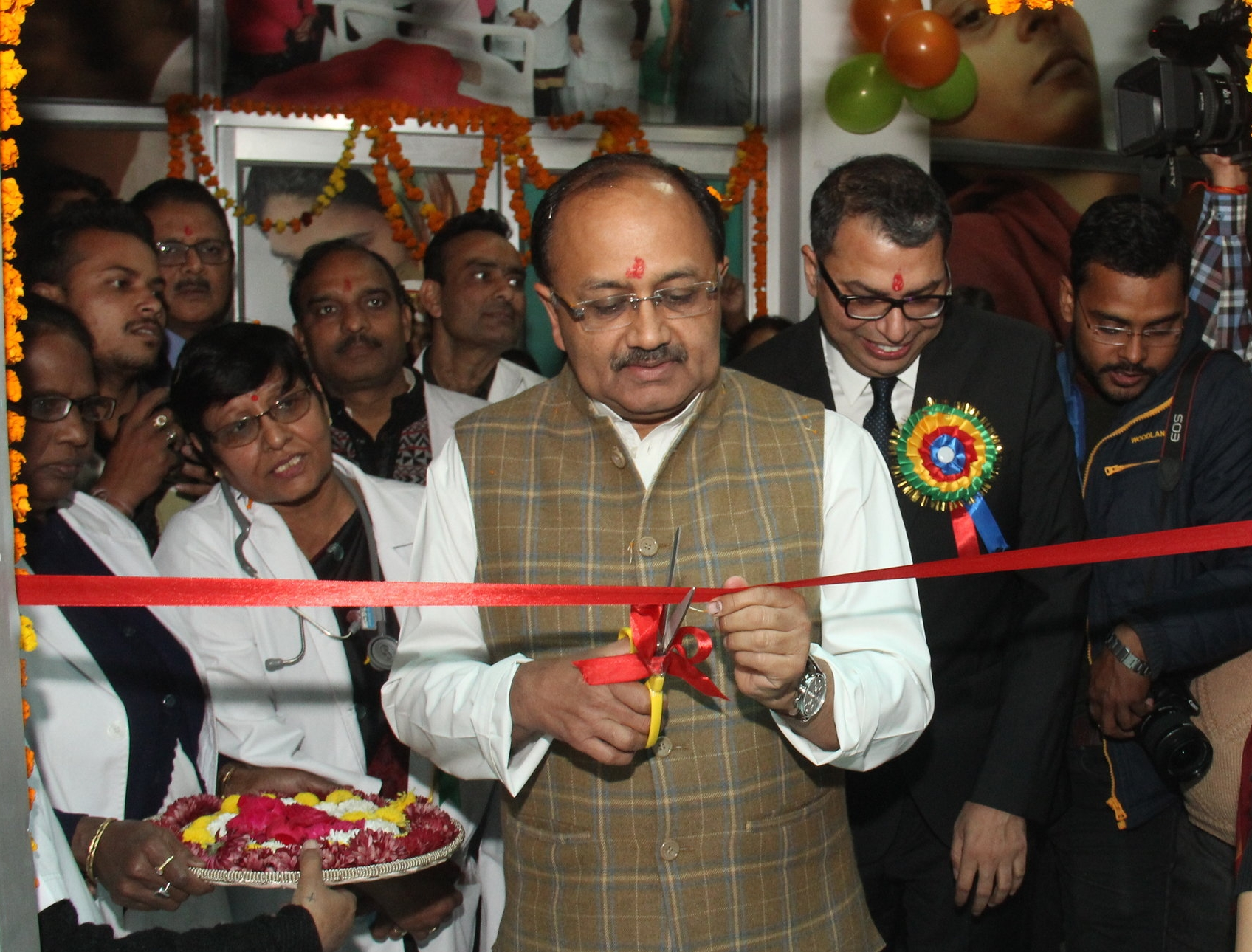 Inauguration of the new Kangaroo Care Lounge in Veerangana Avantibai Hospital, Lucknow by the Hon'ble Minister for Health Shri Sidharth Nath Singh, on 28th Dec 2017.