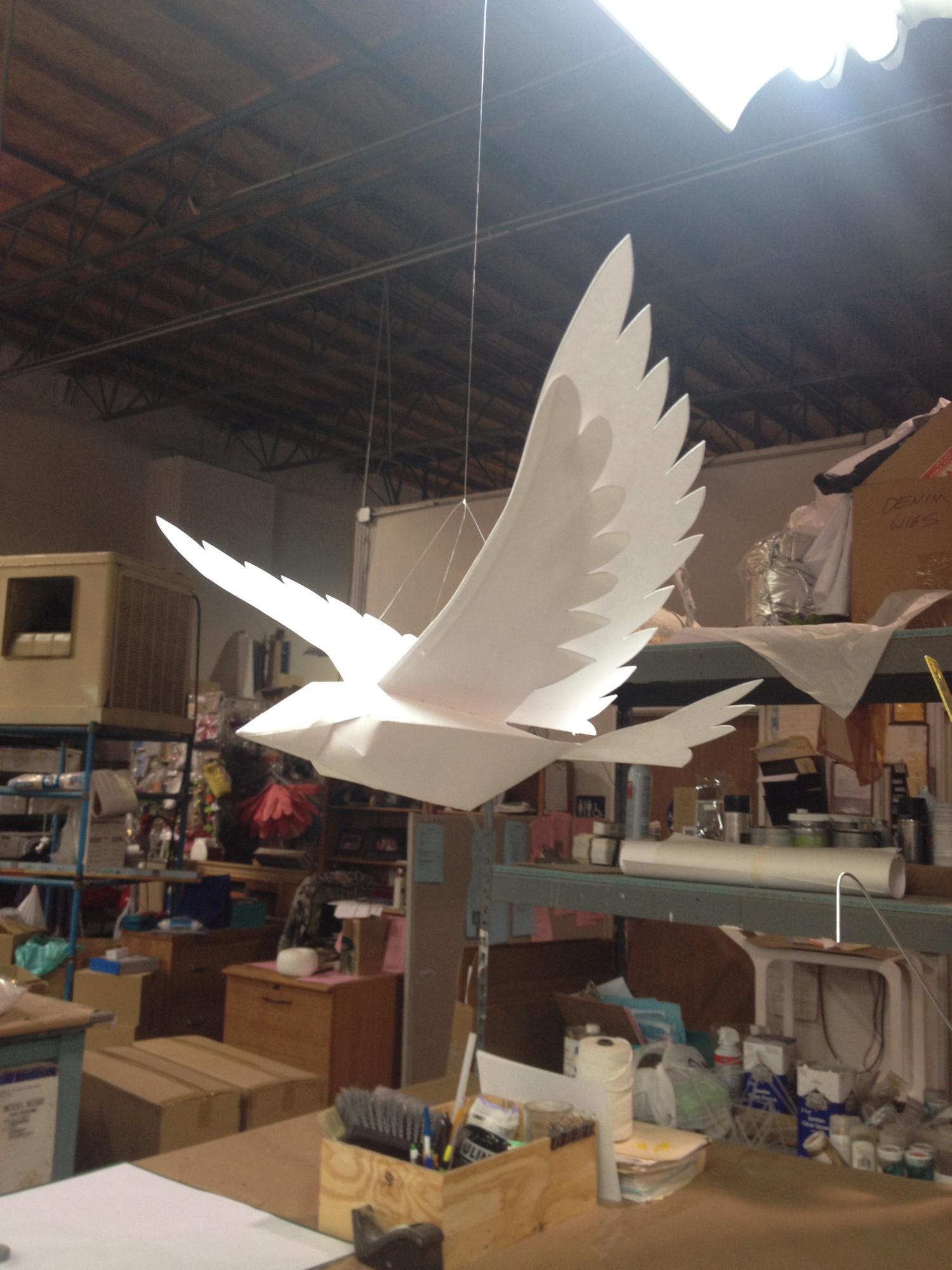 3-D PAPER BIRD