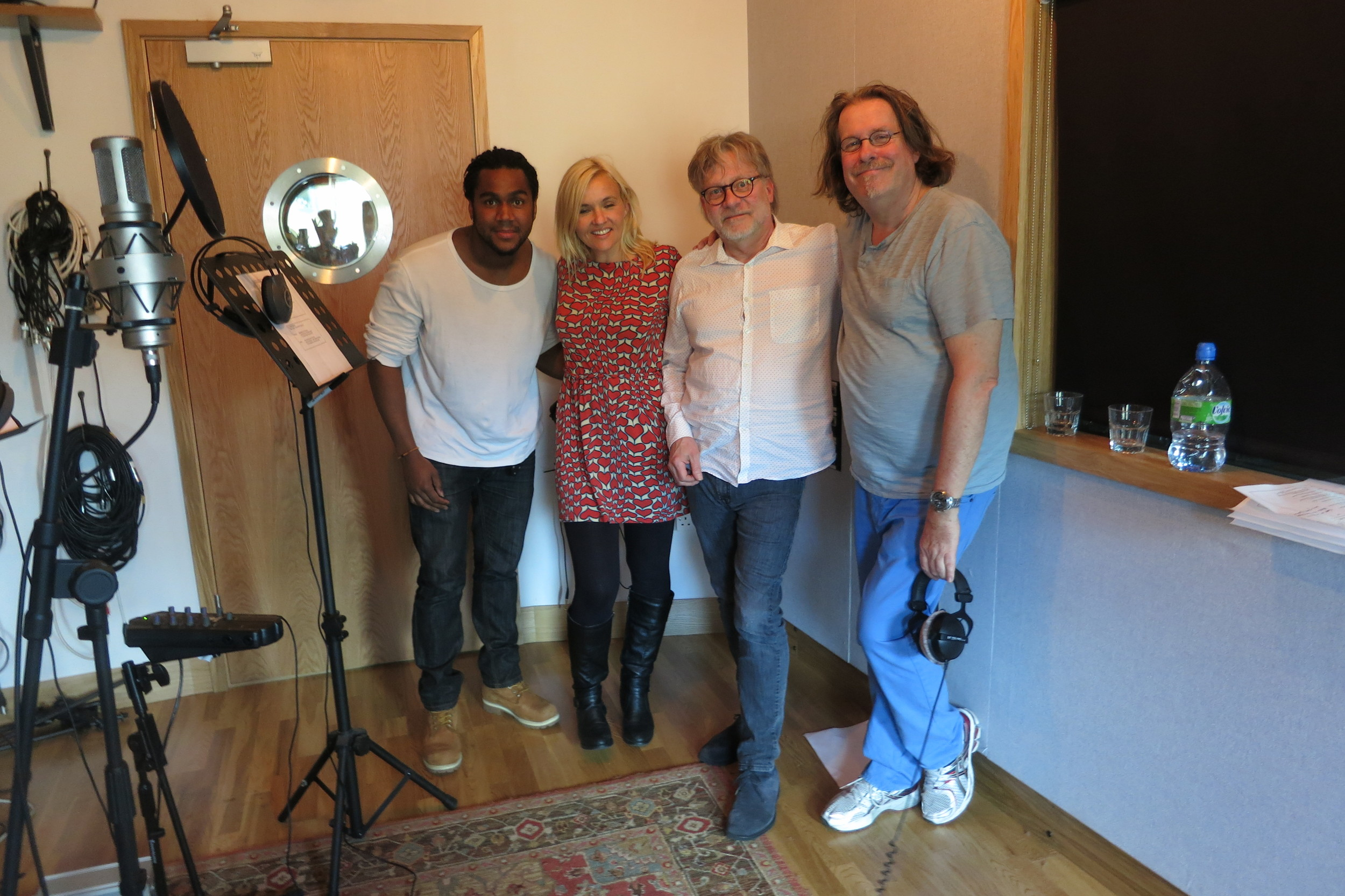 Chuggington Song recording, Marcel McCala, Me, Don Toht &   10:6:2013.JPG