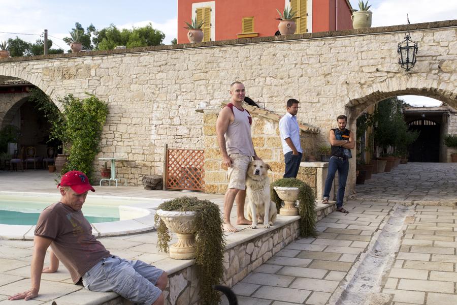 On location at Villa Cappelli in Italy, September 2012
