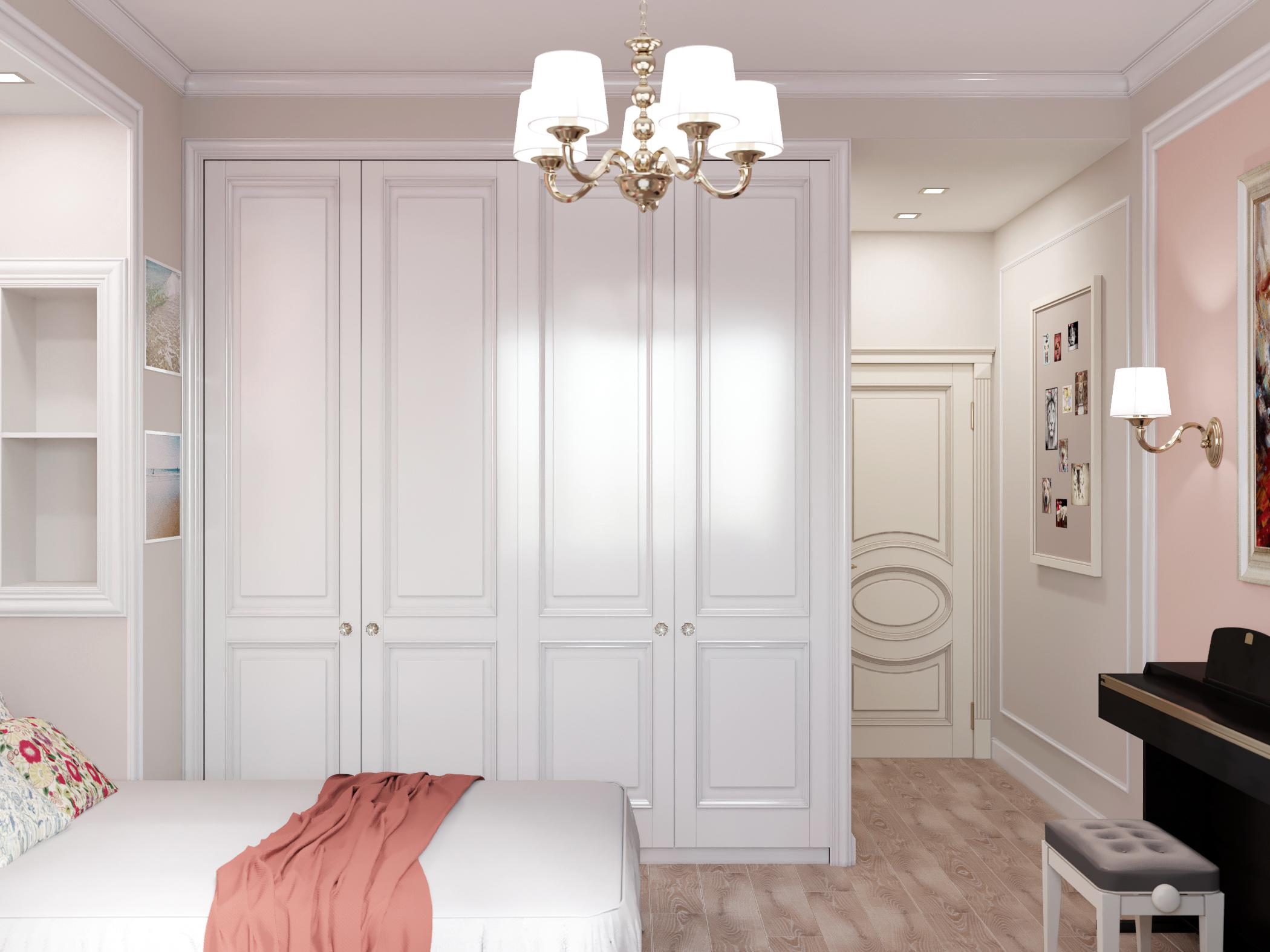 Встроенный шкаф белый