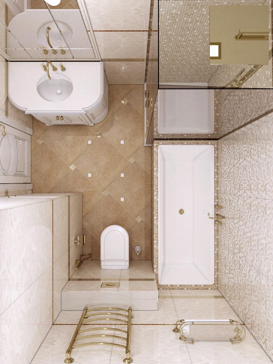 Расположение оборудования в ванной