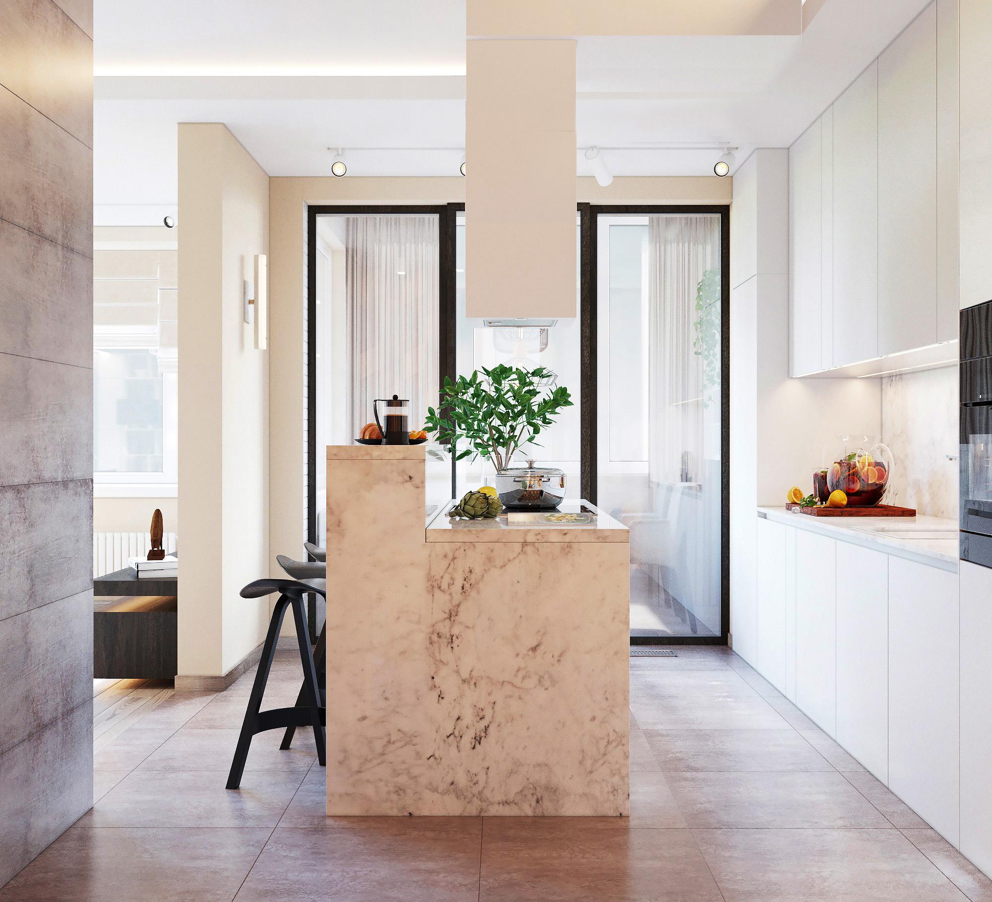 ЖК Дом на мельникова. - 3х комнатная квартира в новостройке в стиле современного минимализма. Общая площадь 104,7 метра кв.