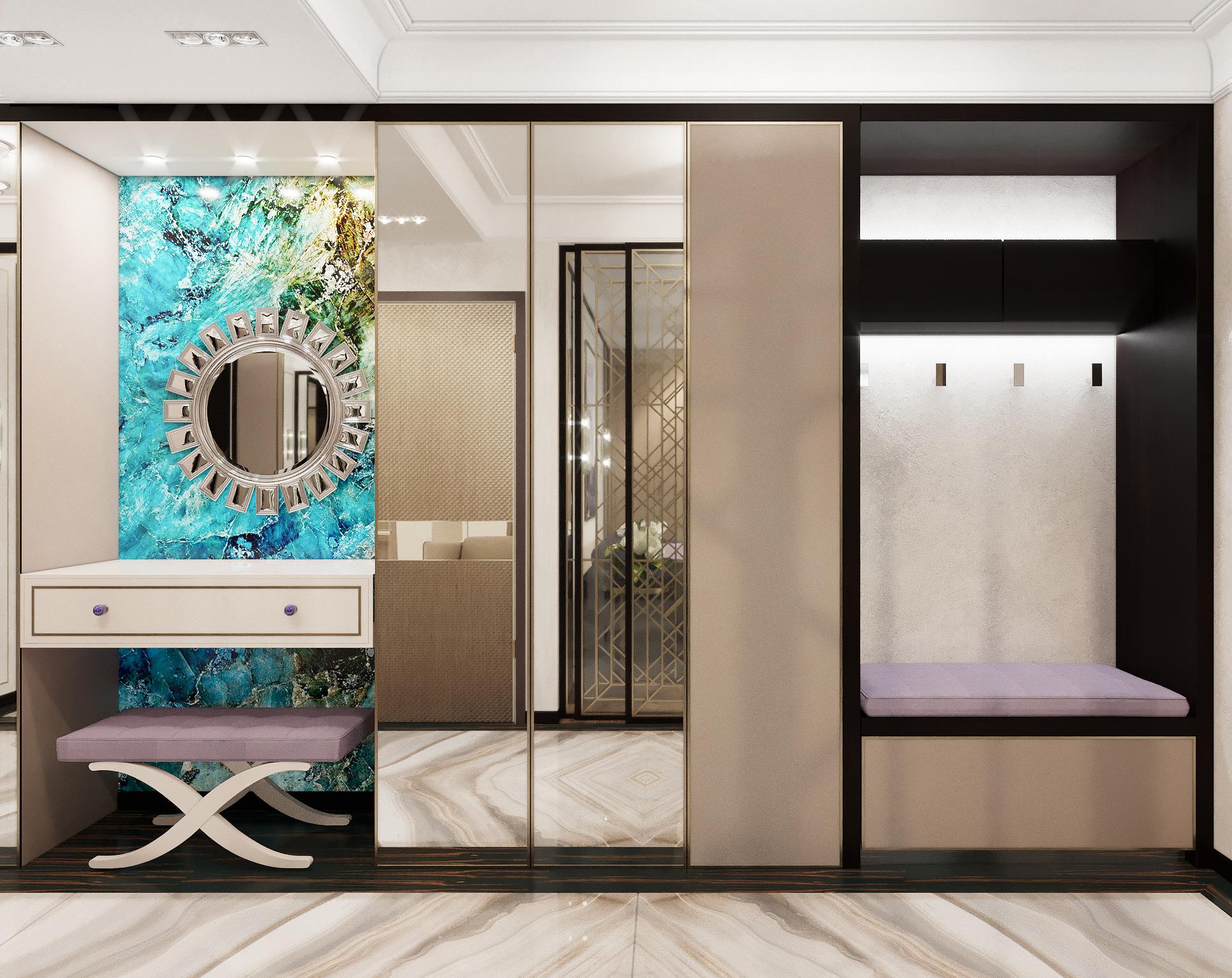 жк на сосинской - ДИЗАЙН интерьер квартиры в стиле модерн ар-деко.