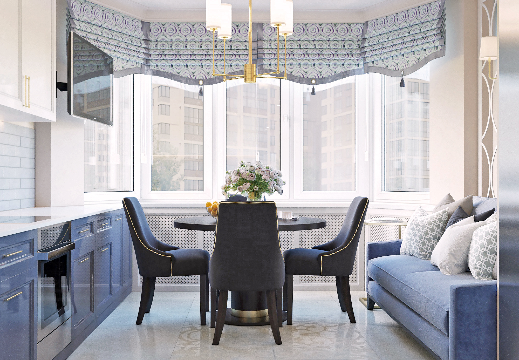квартира в переделкино - Дизайн-проект интерьера 2-комнатной квартиры на Юго-Западе Москвы в стиле современной классики.
