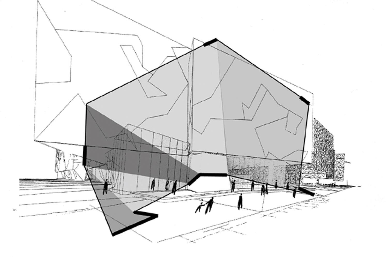 architectural concepts + design + communication . 1998-2000 . melbourne . australia . for lab architecture : peter davidson + donald bates .proposed scheme for the multi-lingual l.e.d., interactive information channels _ with dylan brady .