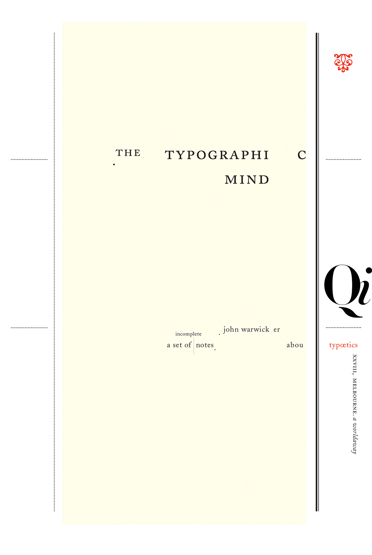 the typographic mind