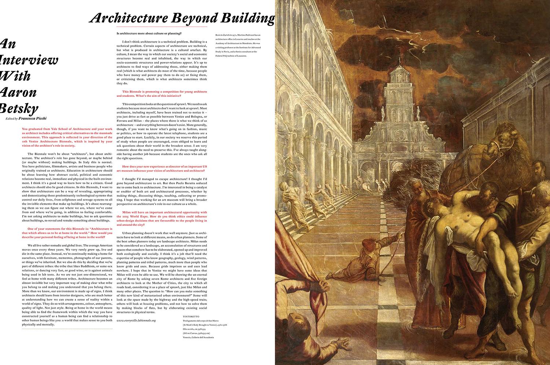 domus : the architect