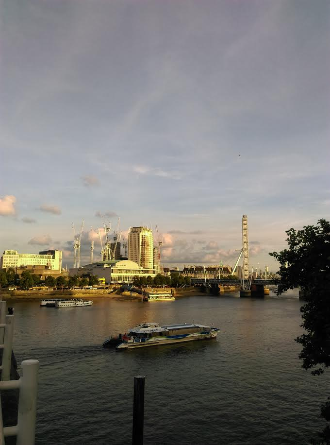 London's South Bank from Waterloo Bridge