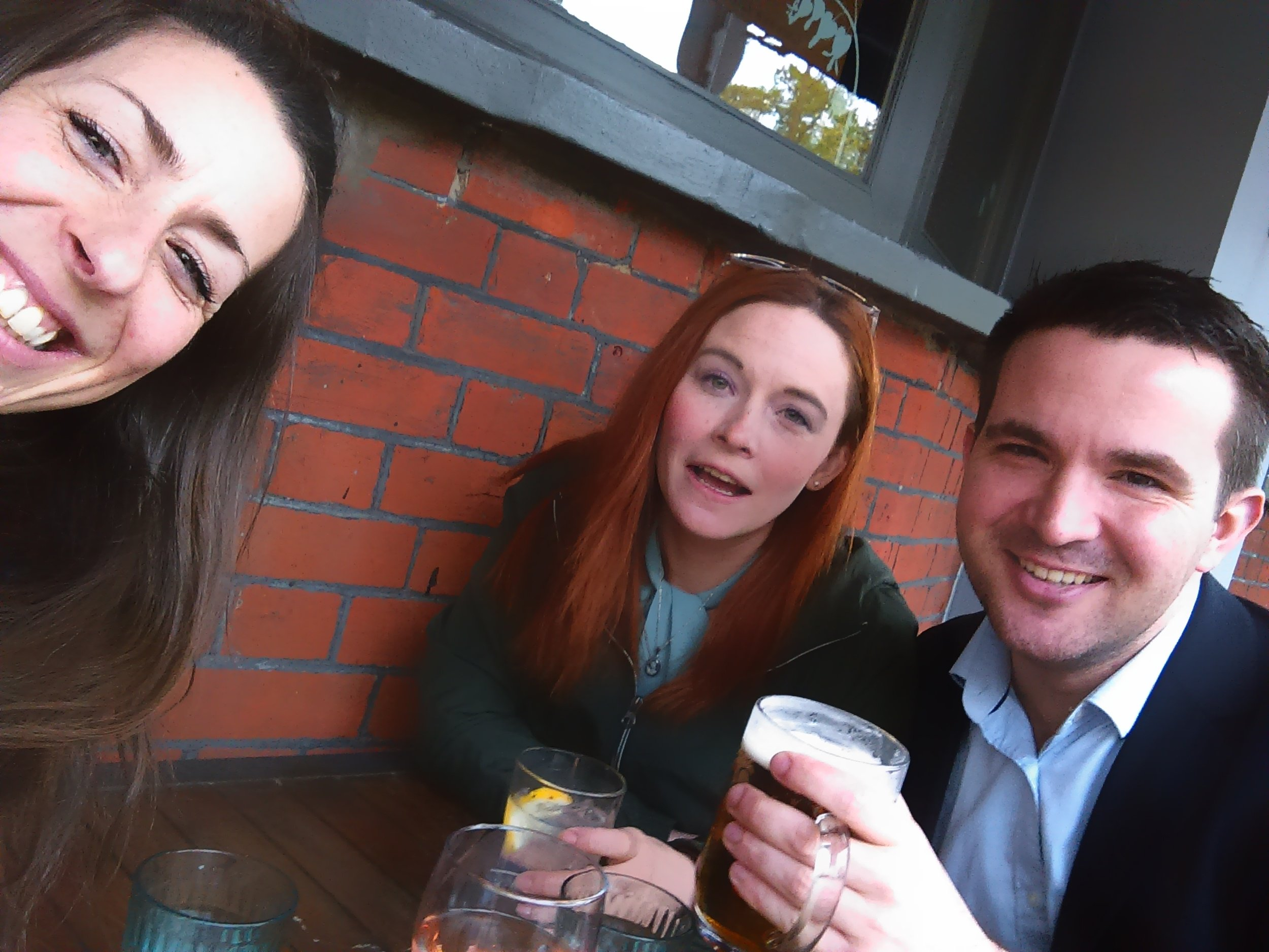 Post engagement session celebratory drinks……..