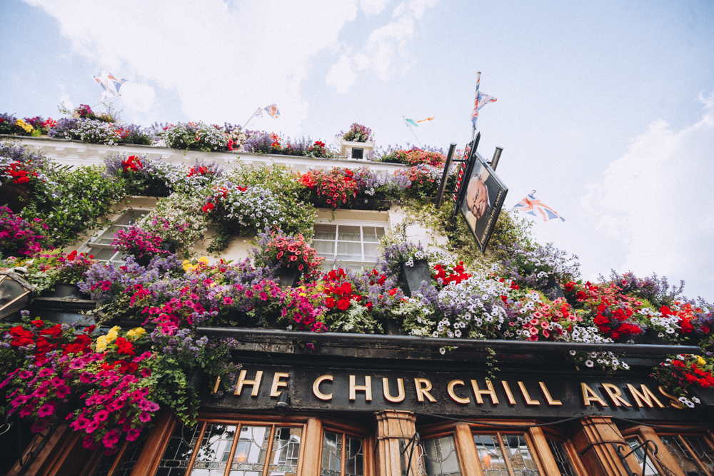 The Churchill Arms - apparently the local of Winston Churchill's grandparents