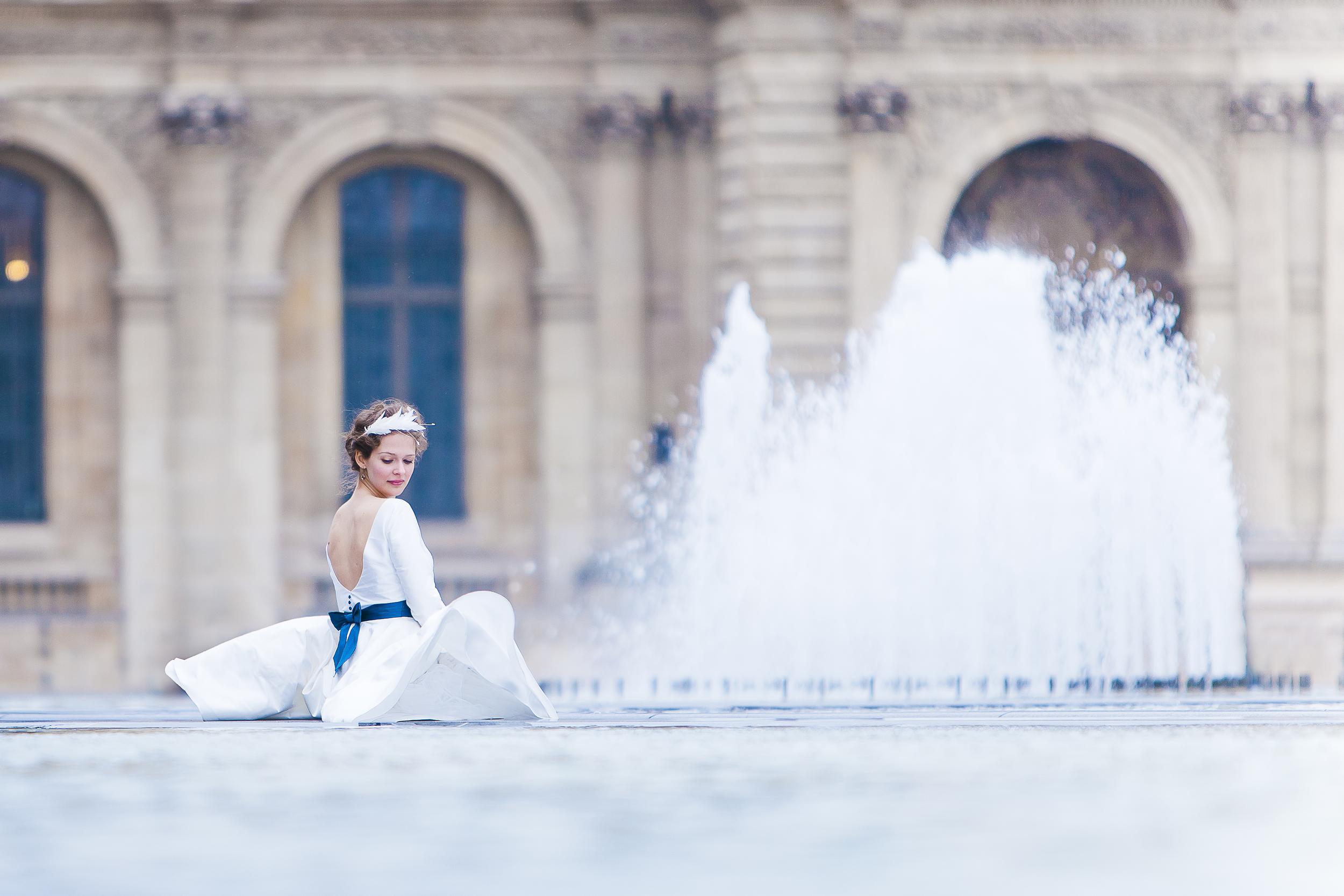 Diese Serie wurde im Weddingstyle Magazin und im Hochzeitswahn + Frieda Theres veröffentlicht.  Mode:  noni  | H&M: Lena Drees | Model: Ce´cile Schwarz | Ort: Paris