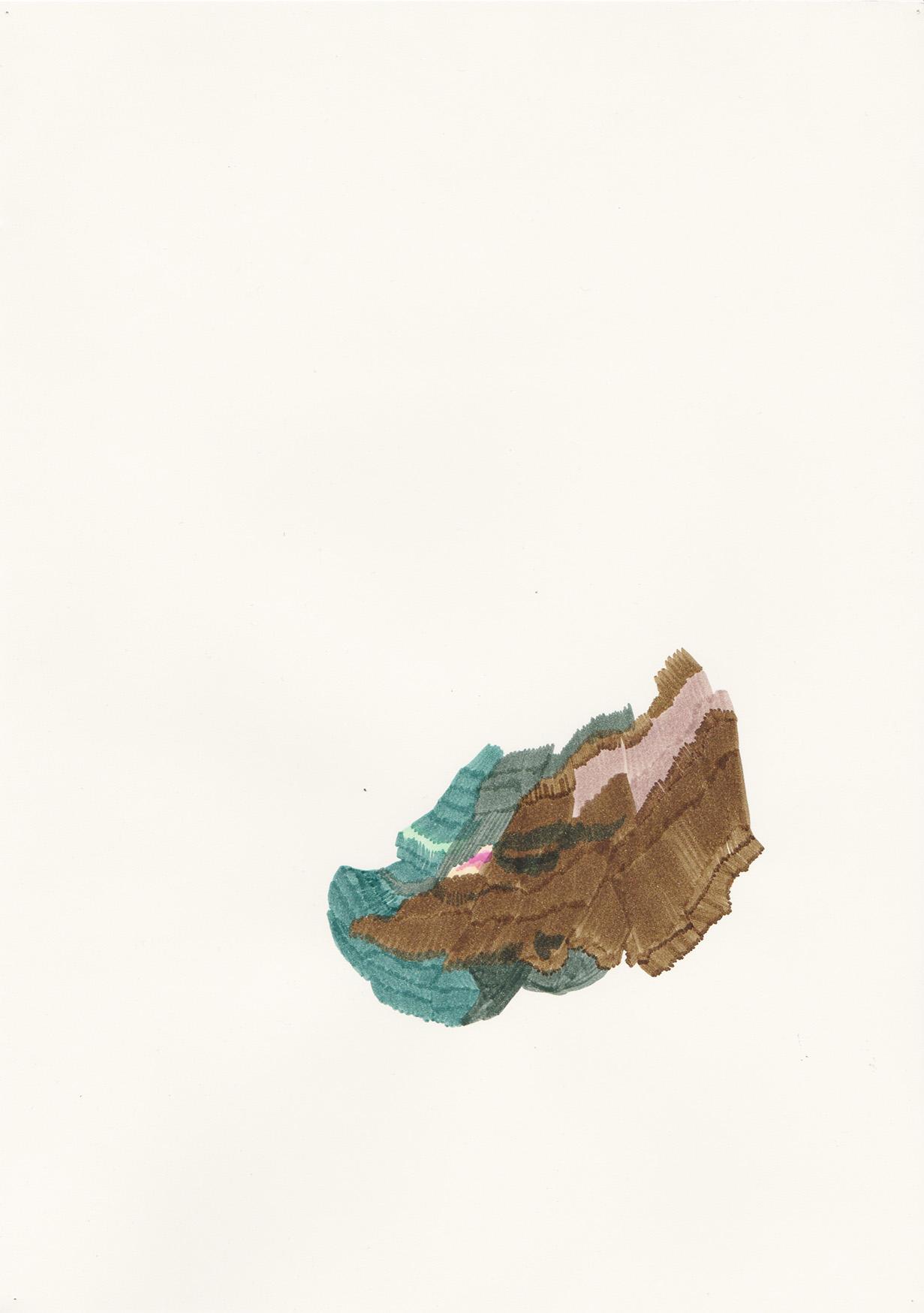 Flanc, dessin aux feutres, 2013