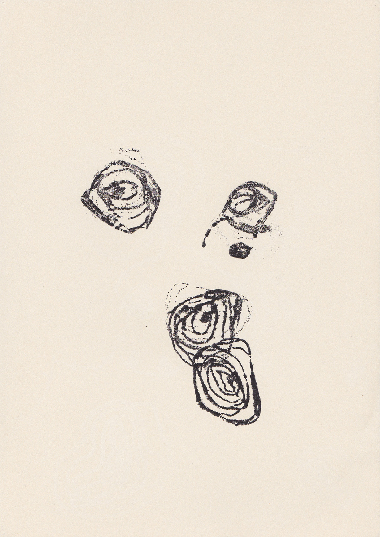 Georges Bataille, monotype, 2013