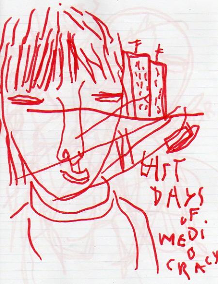 Last days of mediocracy, dessin au feutre à la main droite, 2011