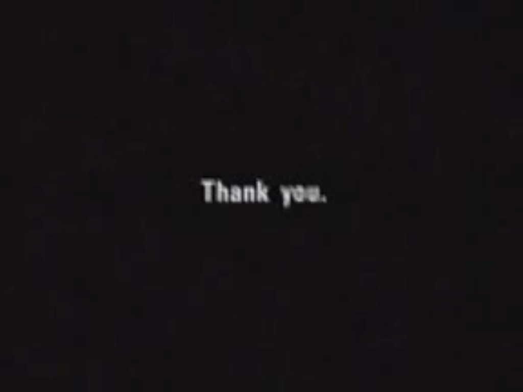 Thank you, capture d'écran, 2013