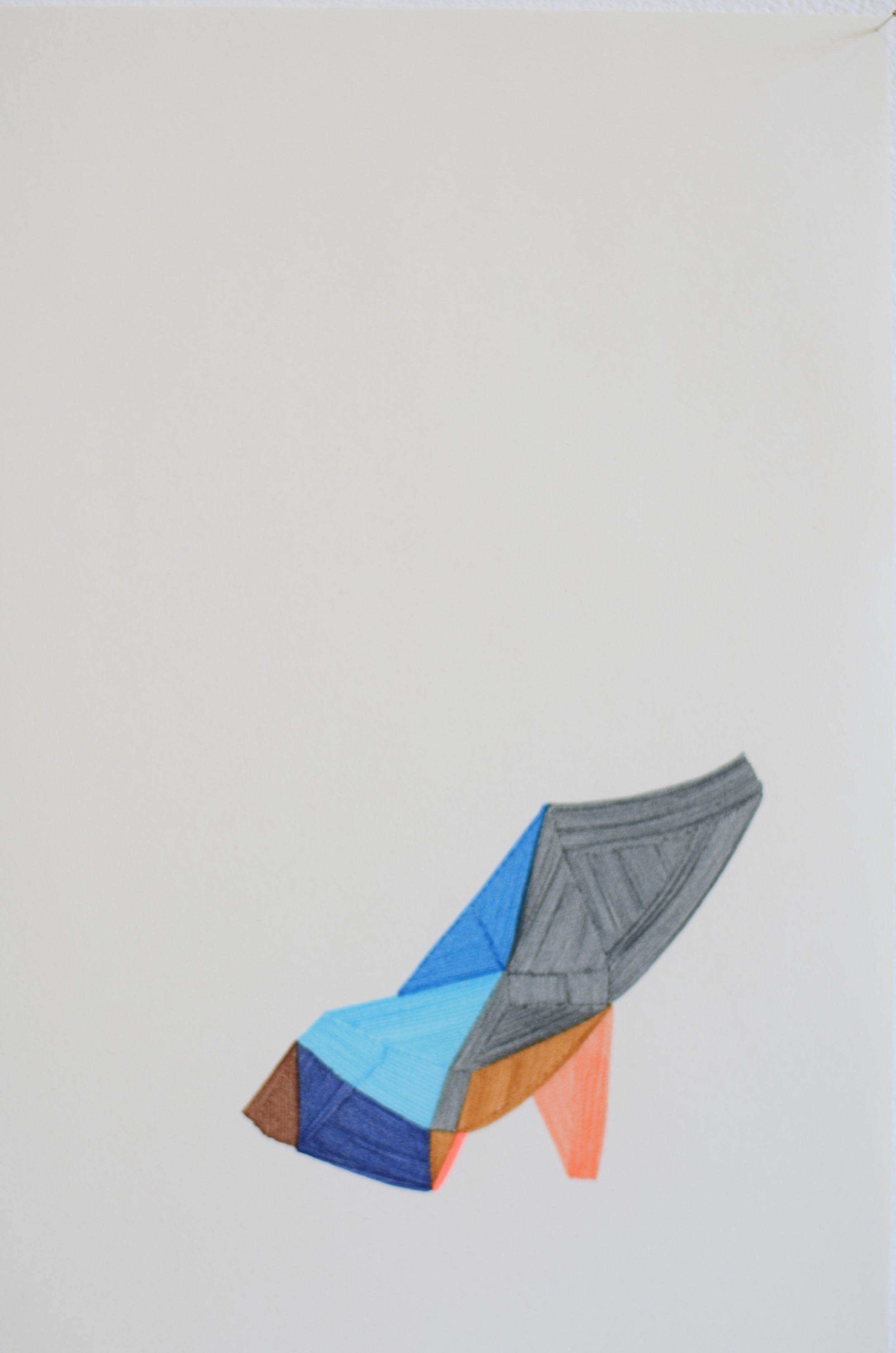 Soulèvement, dessin au feutres, 2013
