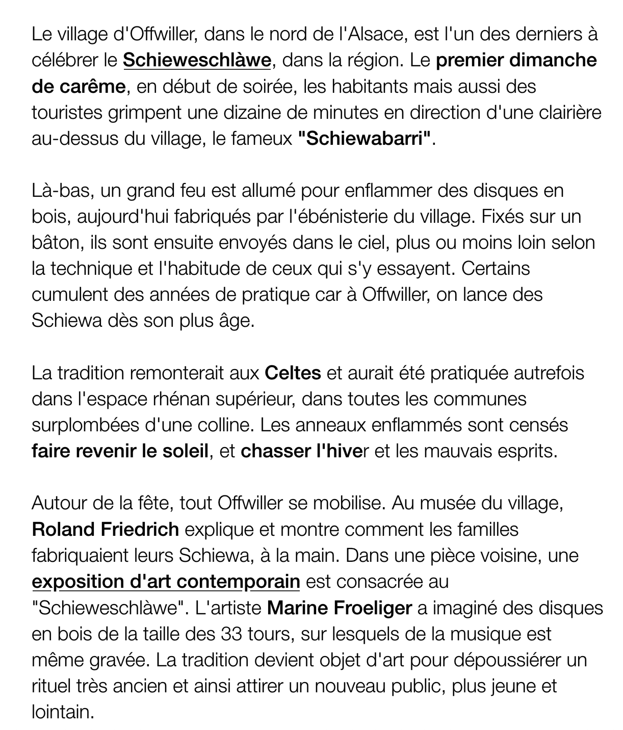 extrait du site internet de France 3 Grand Est, mars 2019