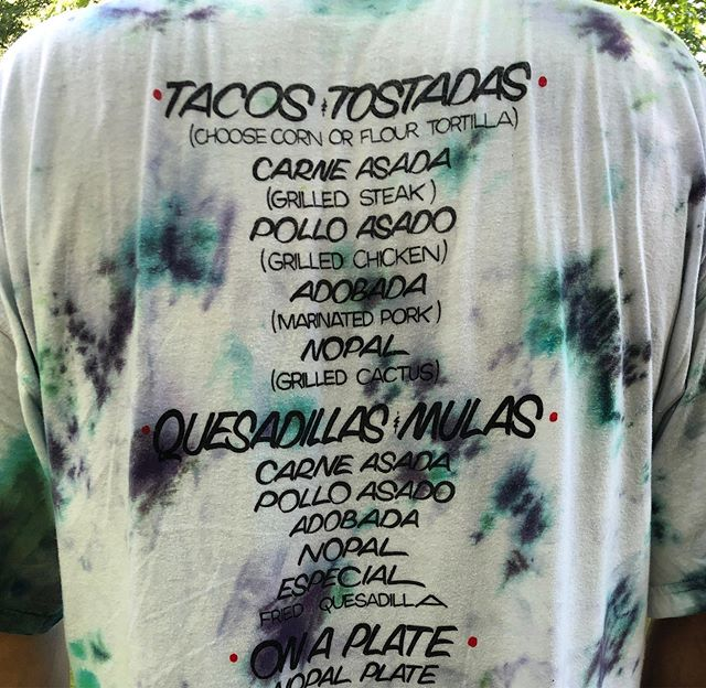 Custom Los Tacos T-shirt spotted in Kingston, NY is summertime perfection. @delavega_designs @lostacos1