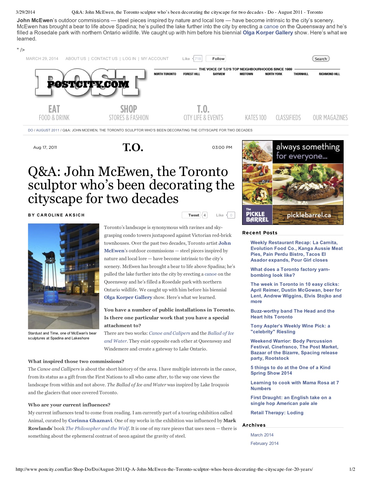 """Preview of """"Q&A- John McEwen, the To...- August 2011 - Toronto"""".jpg"""