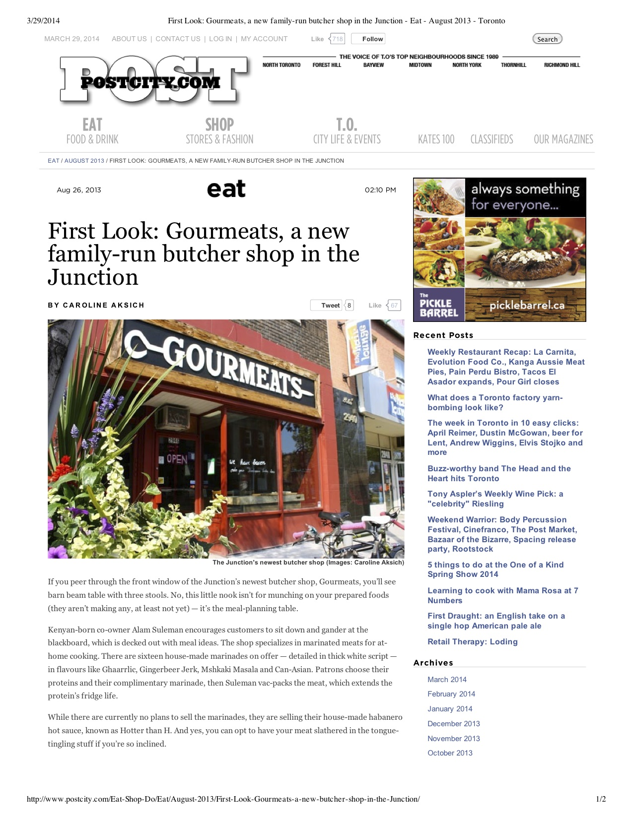 """Preview of """"First Look- Gourmeats, a...- August 2013 - Toronto"""".jpg"""