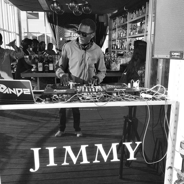 Much ❤ to everyone that came thru last week to support the @jimmyatthejames debut. Great news: I'm back this #Friday to kick off #mdw2019 ! Stop by for my #HappyHour slot (5:30 - 9PM)  if you're in town because:  1. It's on a rooftop overlooking all of downtown Manhattan  2. There's a pool.  3. There's no cover (And yes, I realize how ridiculous the photographers legs reflections makes me look...best caption wins tickets to my #QuietEvents cruise party on June 7th...)