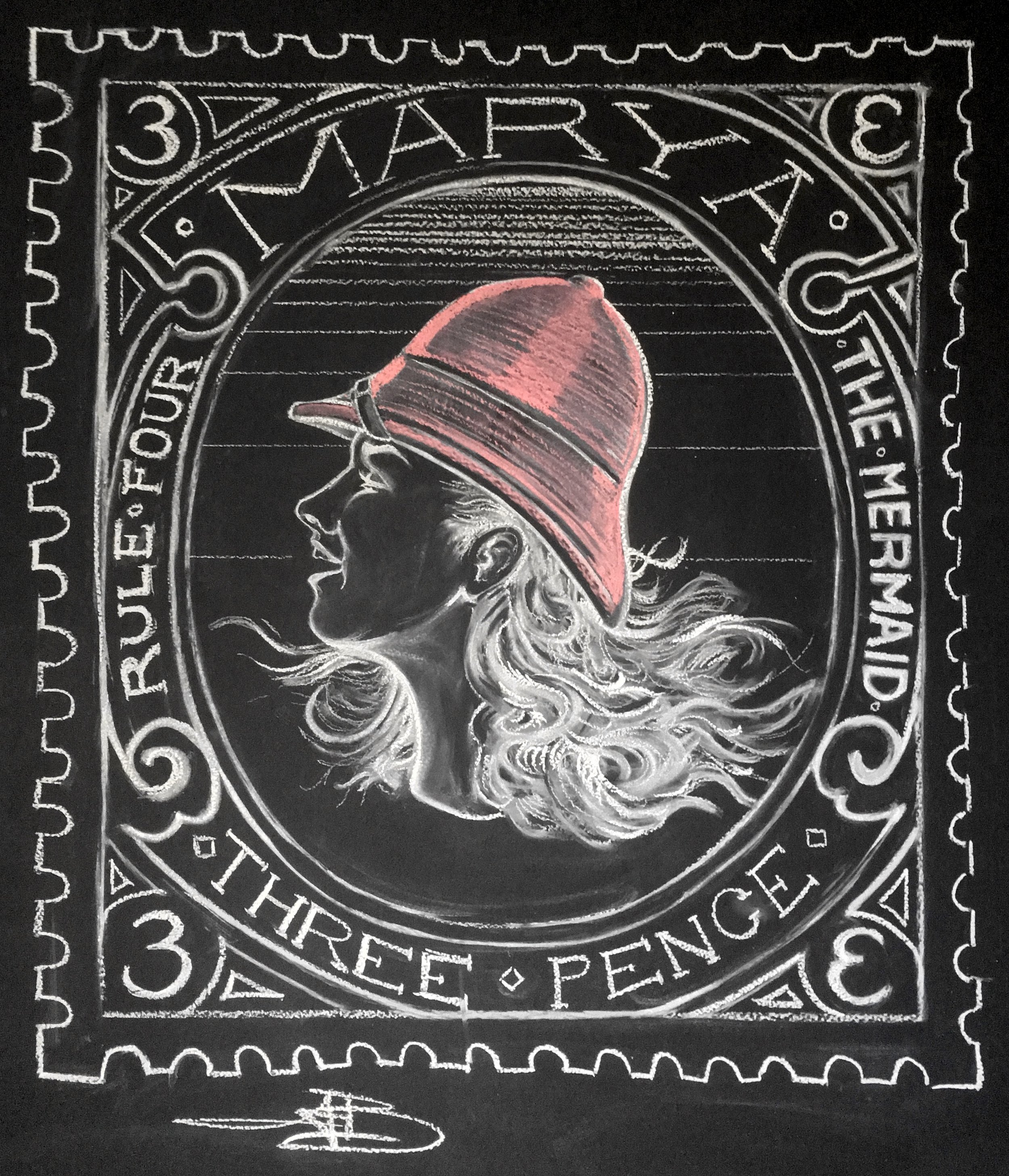 Marya in Red Pith Helmet (Chalk, 2016)
