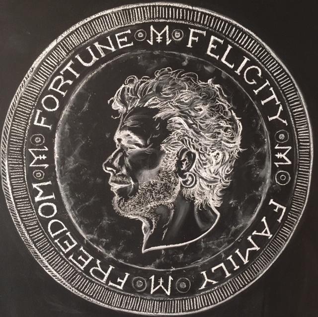 Finn Goll on a Coin (Chalk, 2016)