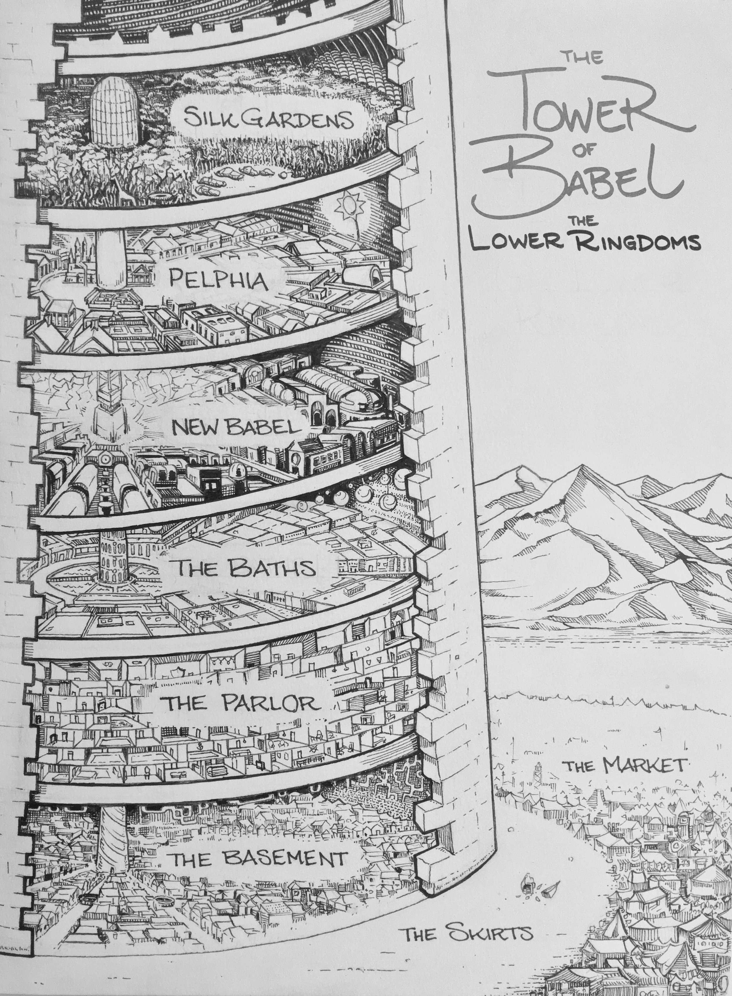 The Tower of Babel, Lower Ringdoms, Hardcover Edition (Ink, 2016)