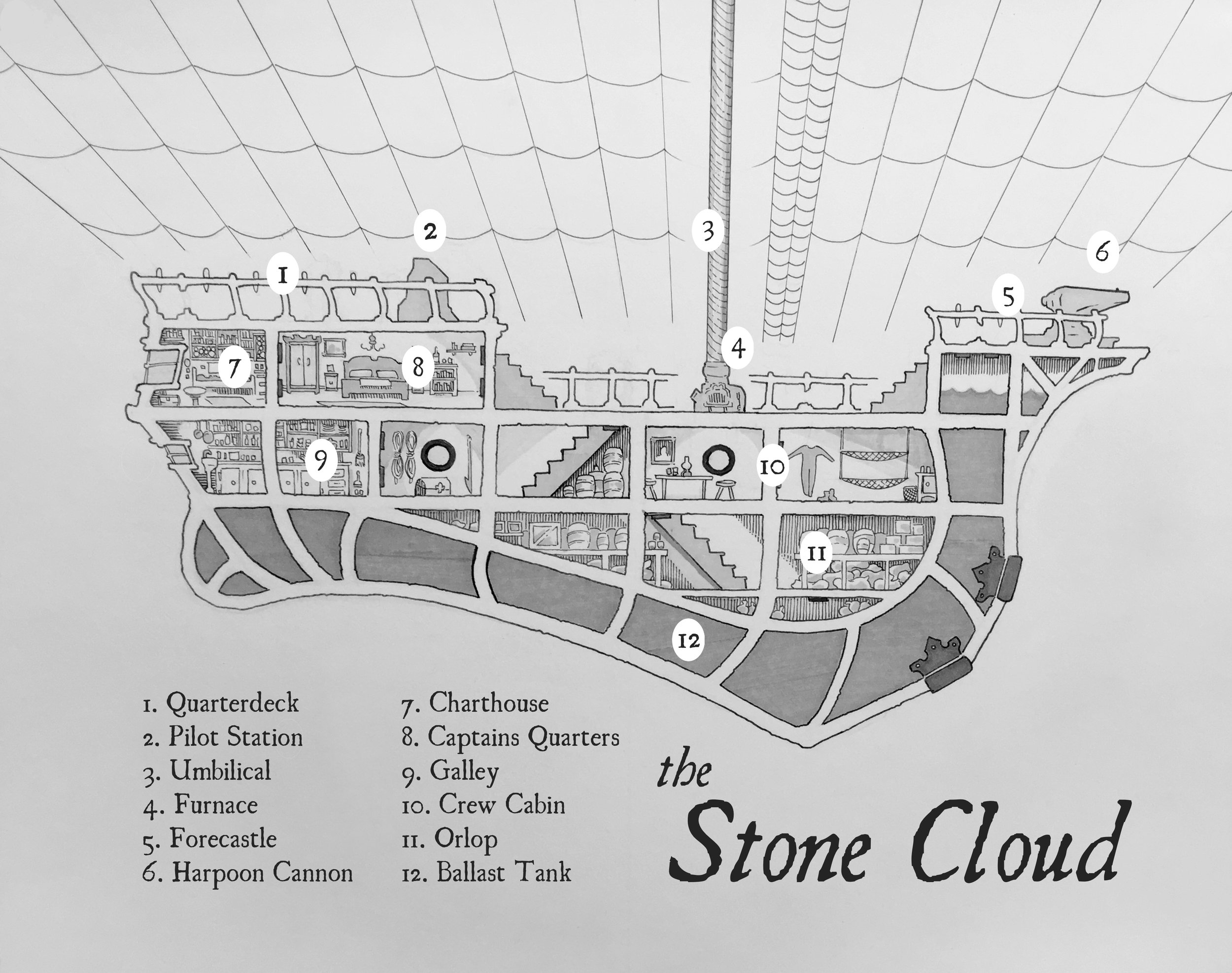 The  Stone Cloud , Hardcover Edition (Ink and marker, 2017)