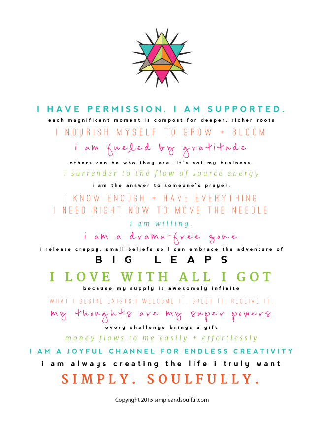 simple and soulful manifesto
