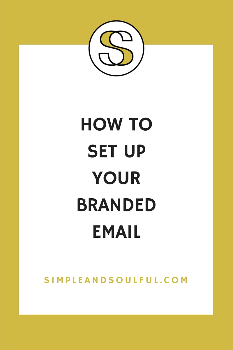 how to set up branded email