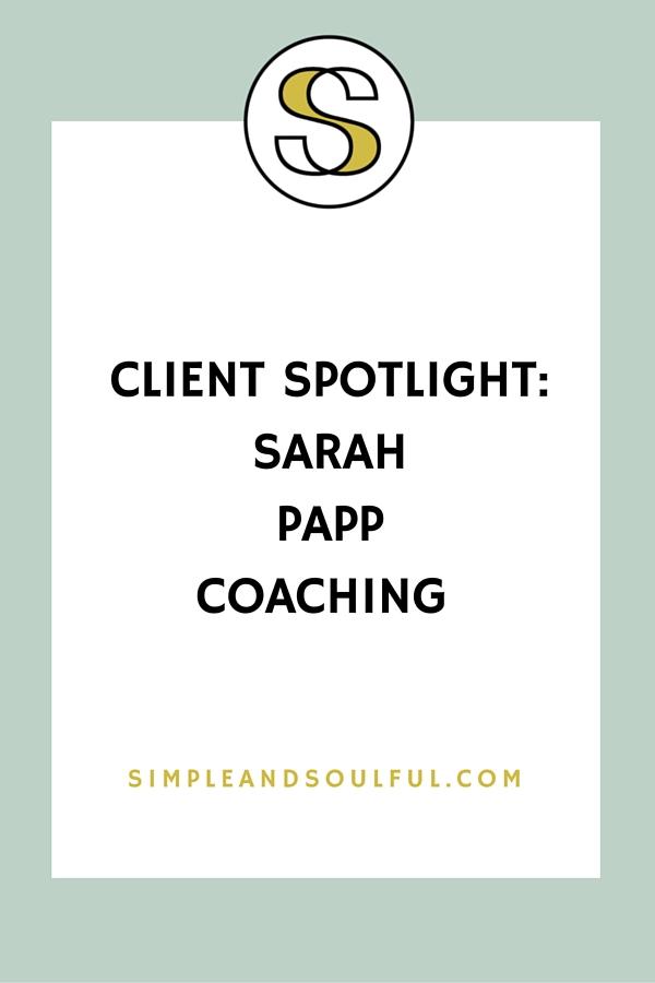 portland life coach sarah papp at simple and soulful creative