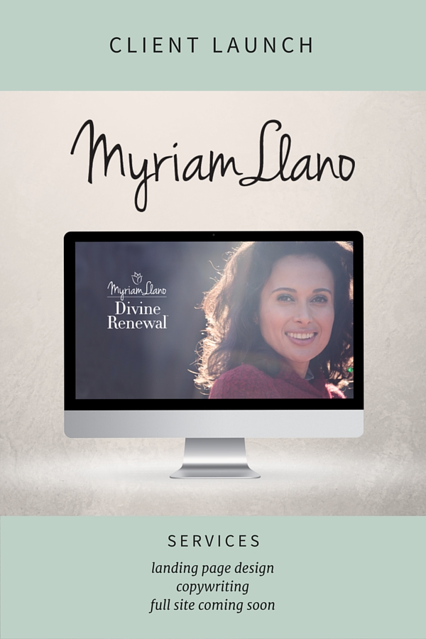 Myriam LLano Squarespace landing page design by Simple & Soulful Creative.