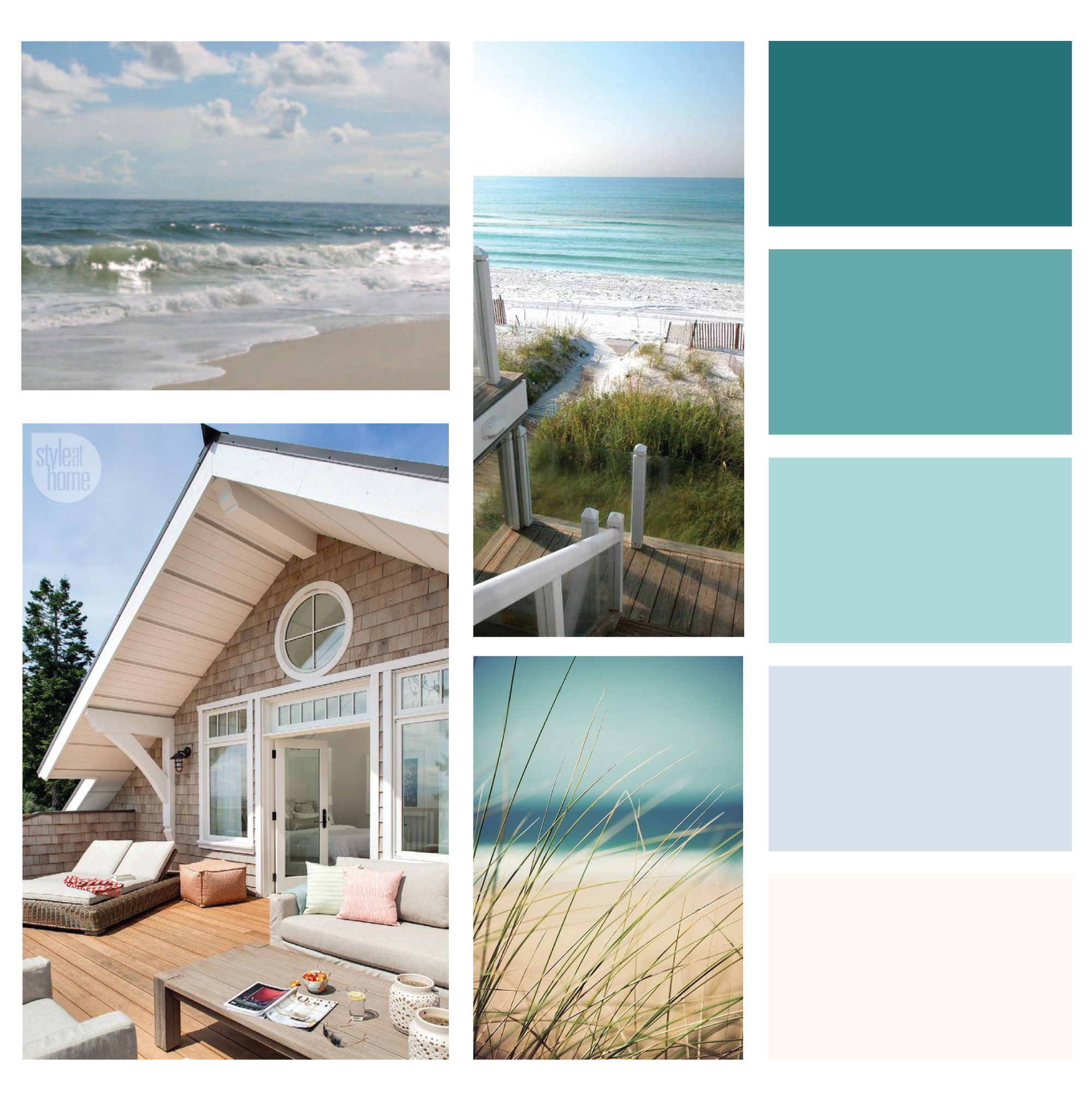 The simple and soulful brand palette for Diane Schade NP was inspired by the soft whites,pale blues, and shimmering greens of the ocean.