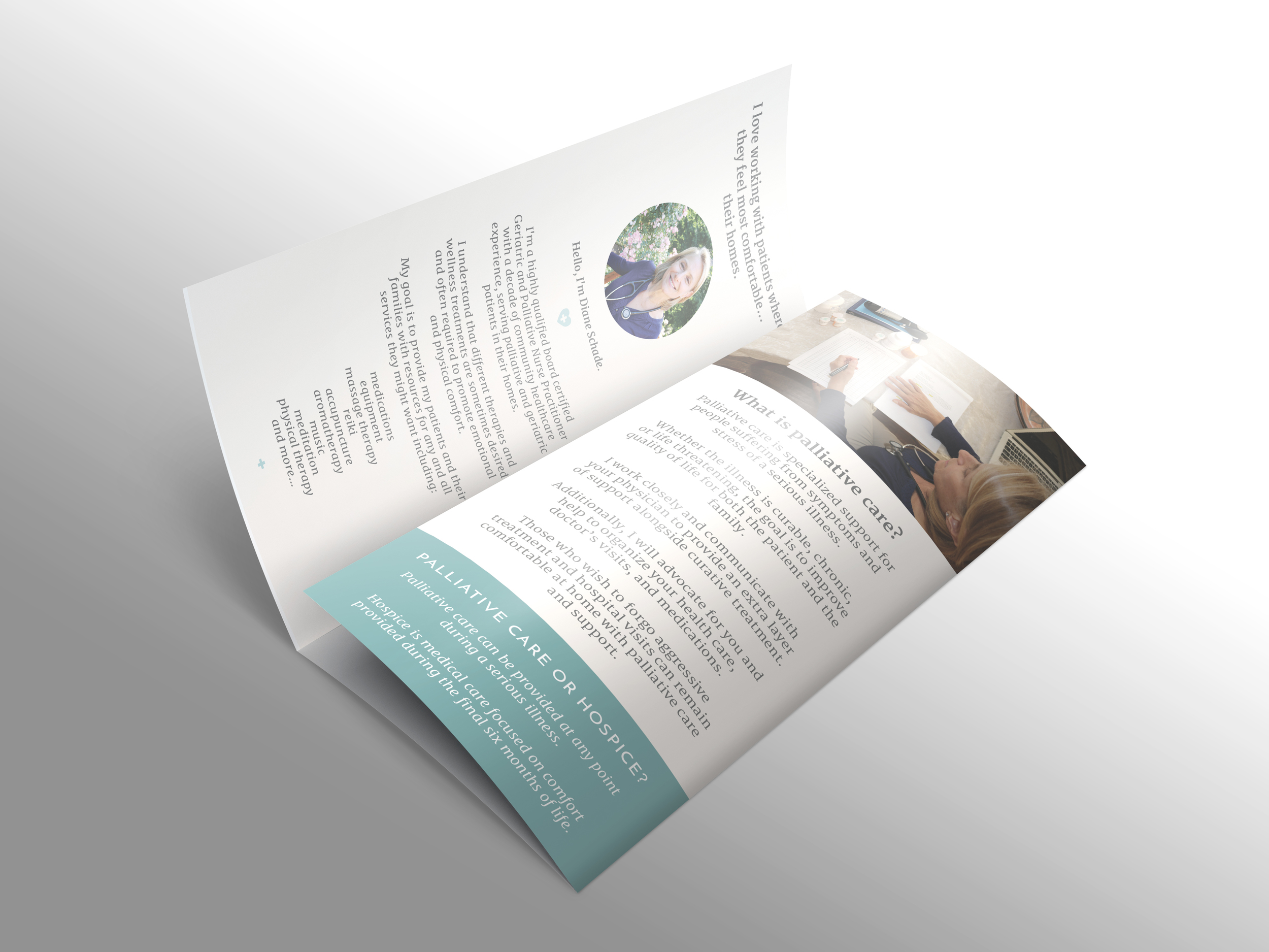 diane schade brochure branding at simple and soulful