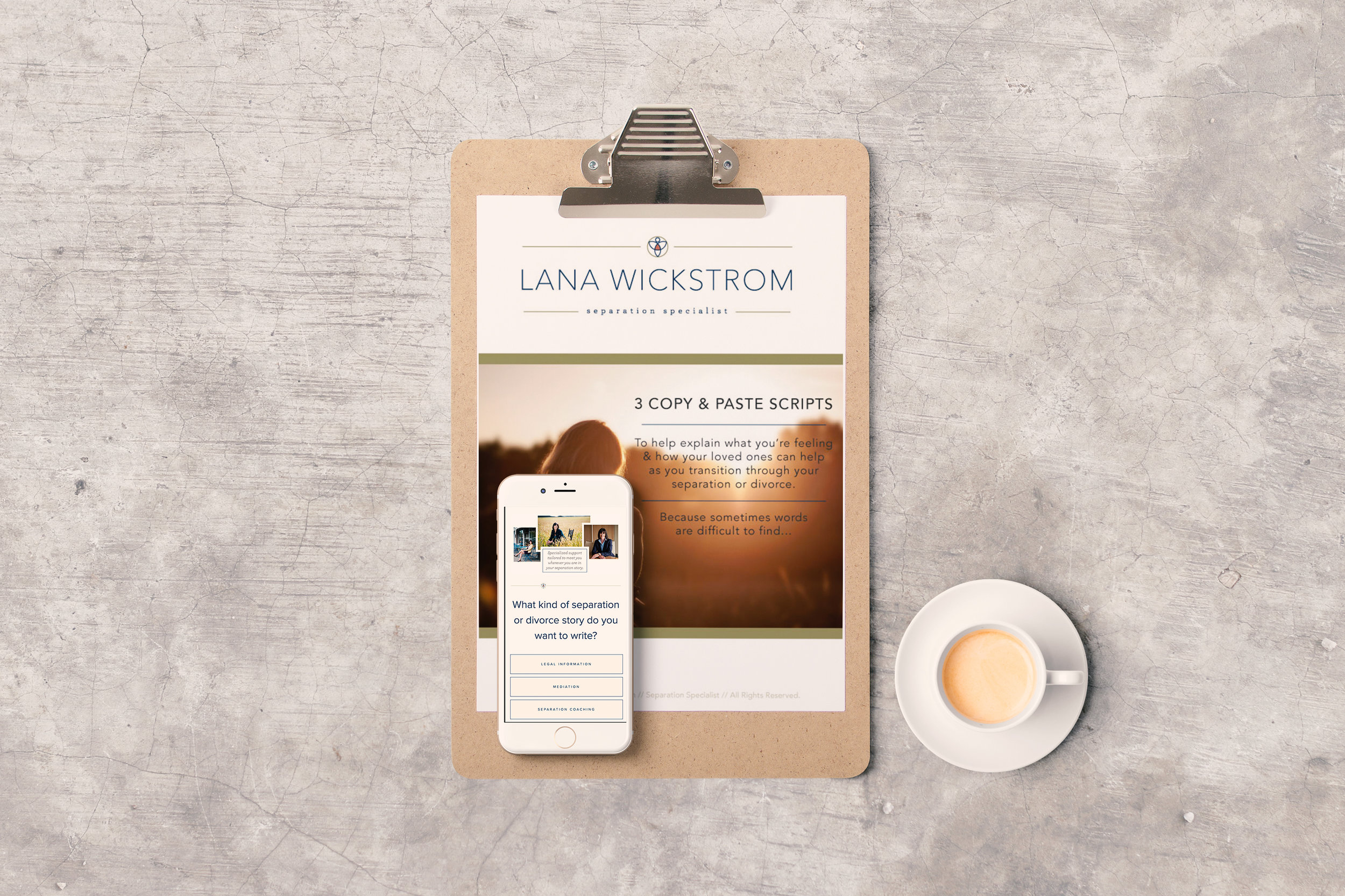 Lana Wickstrom Squarespace website launch story. By Simple & Soulful Creative. Mobile friendly Squarespace website with a useful and gorgeous subscriber opt-in gift!