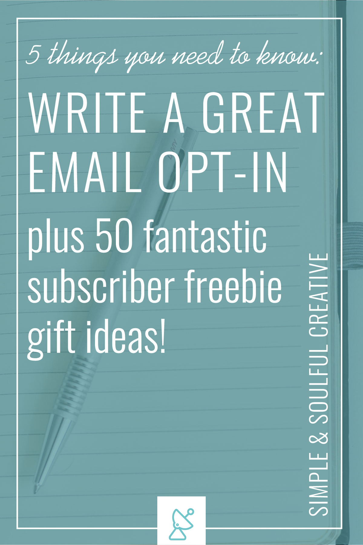 If you've struggled to create an email opt-in because you have no idea where to start, this post is for you! Learn the five simple things you need to know about creating an awesome freebie gift for your subscribers.