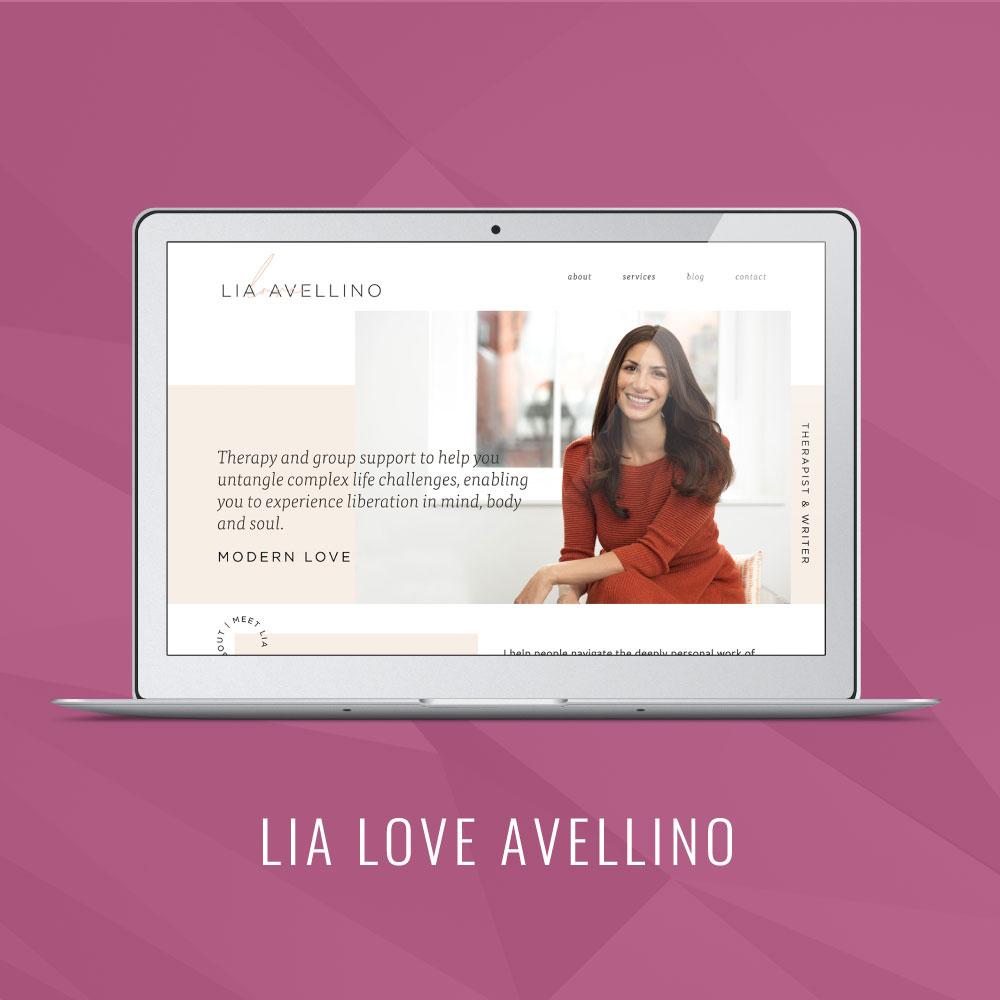 Lia Love Avellino | Squarespace Website Launch