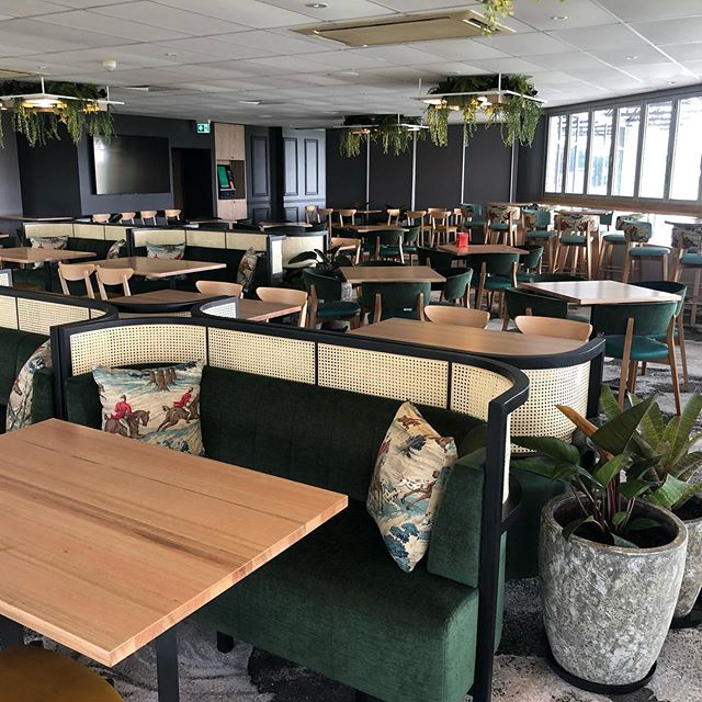Recent fitout at the Sunshine Coast. Custom booths with rattan and indoor outdoor furniture #customjoinery #bespokejoinery #customupholstery #boothseating #shopfitters #italianfurniture #cantarutti #australianmade