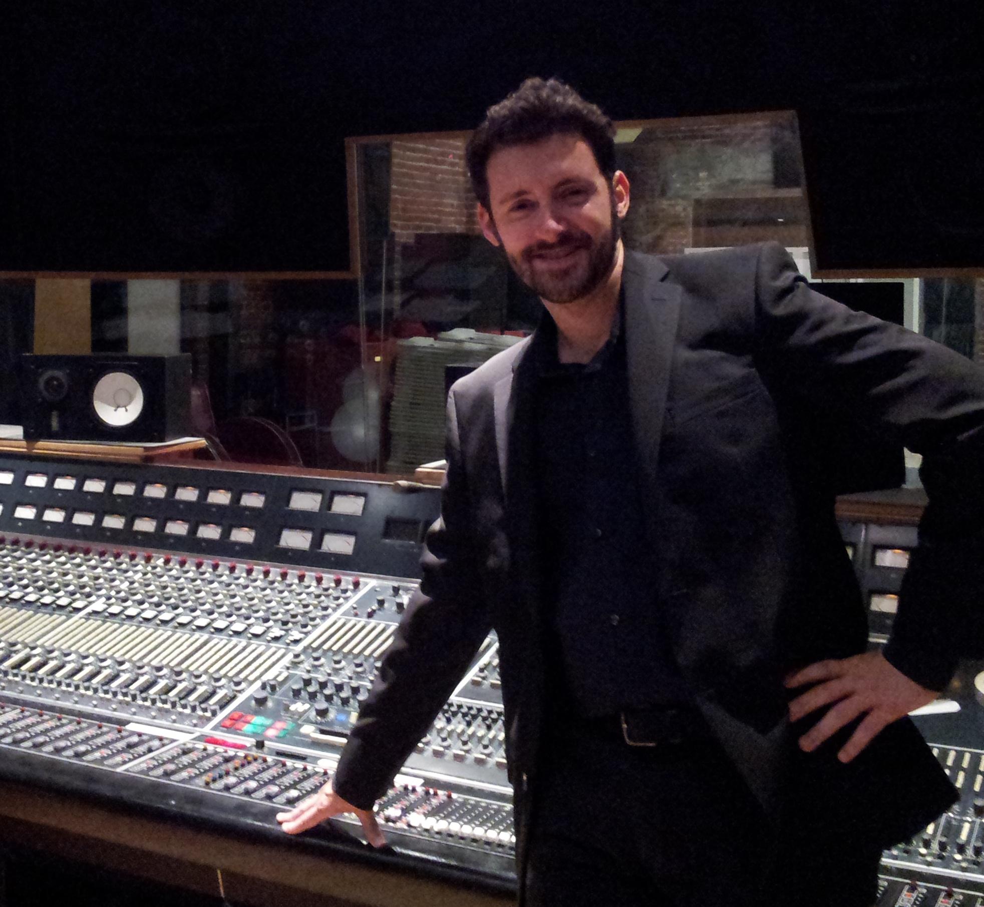 Jeroen at his graduation from SAE Los Angeles, at Ocean Studios in Burbank